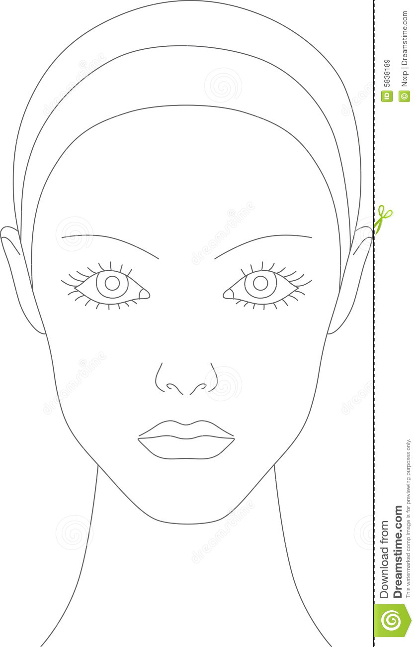 Free Blank Face Charts For Makeup Artists Anexa Market