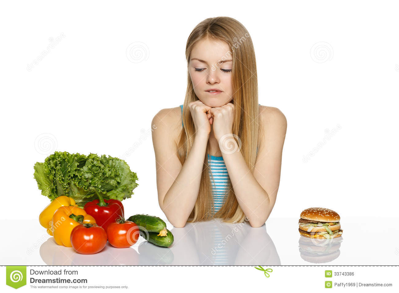 Making Healthyt Choices Stock Photo