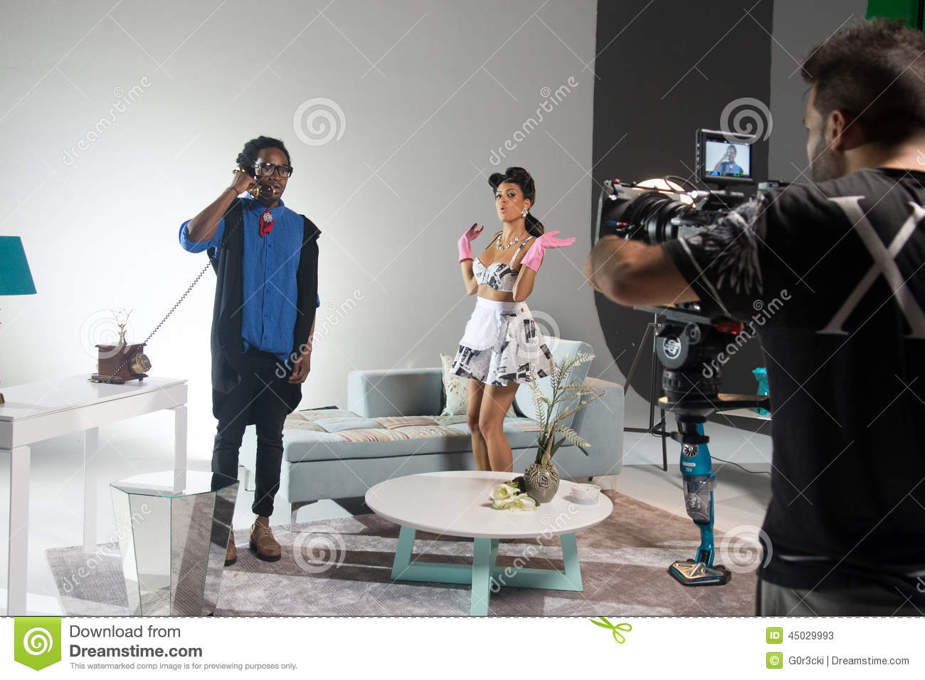 Making Off  Boss On The Phone And Maid Editorial Stock Photo  Image 45029993