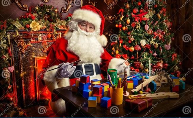 Making Santa Toys Stock Photos Royalty Free Stock Images