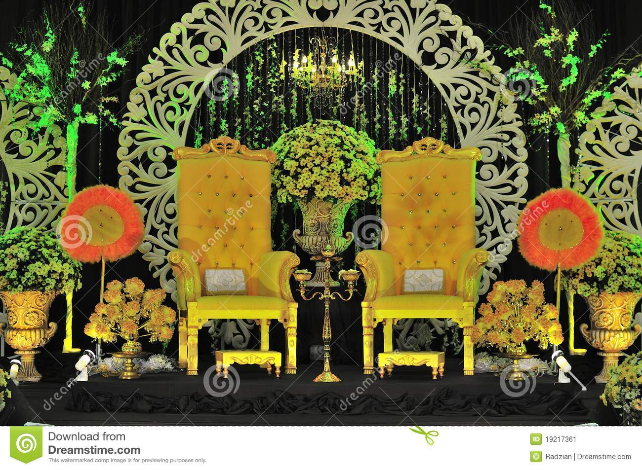 wedding stage chairs amazon.ca chair slip covers malay and decoration stock image