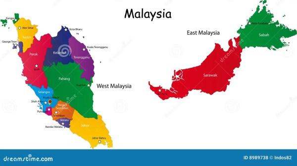 Malaysia Map Royalty Free Stock Photos Image 8989738