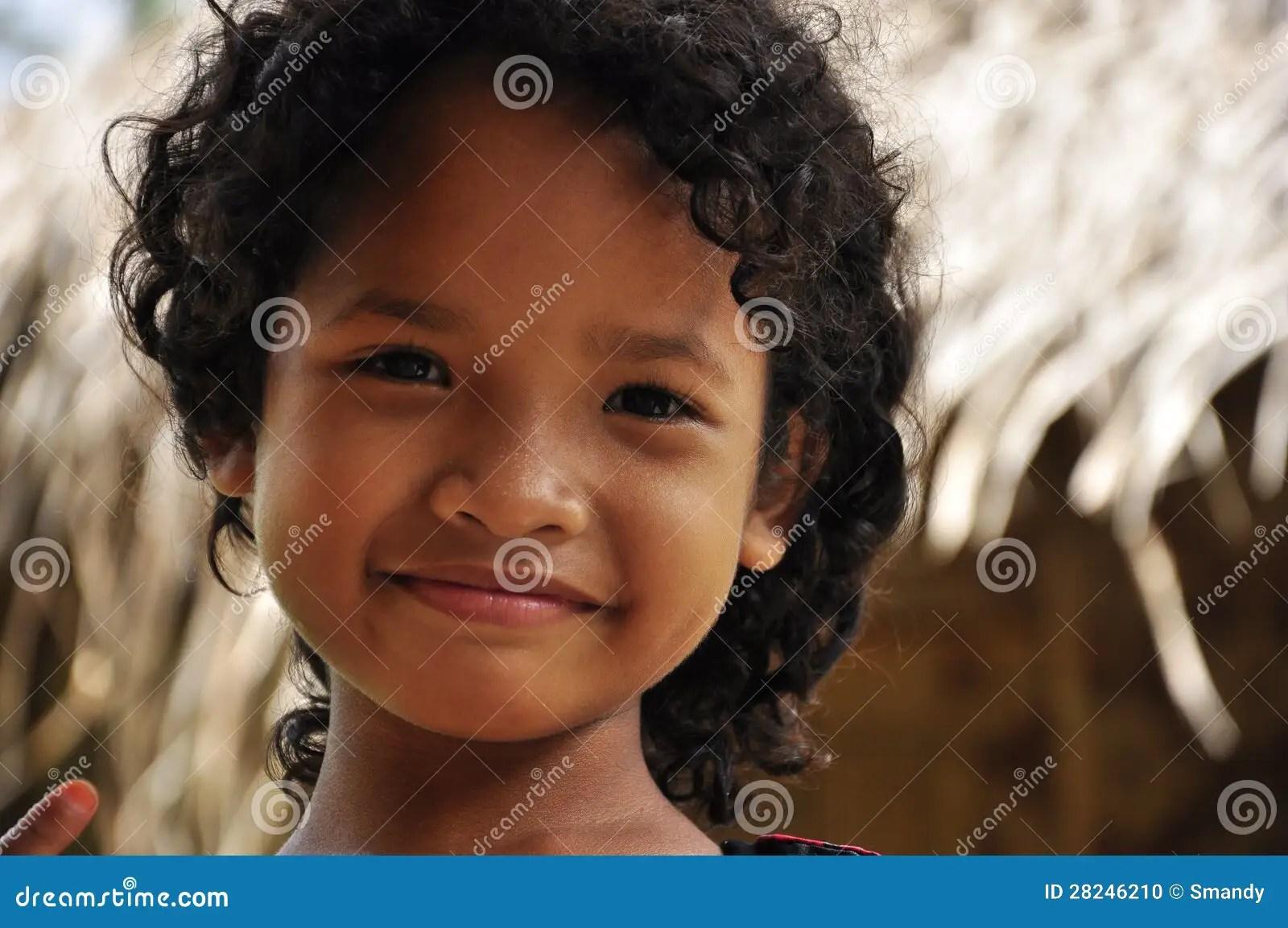 Malaysian Indigenous Girl Smiling Serene Editorial Image - Image: 28246210