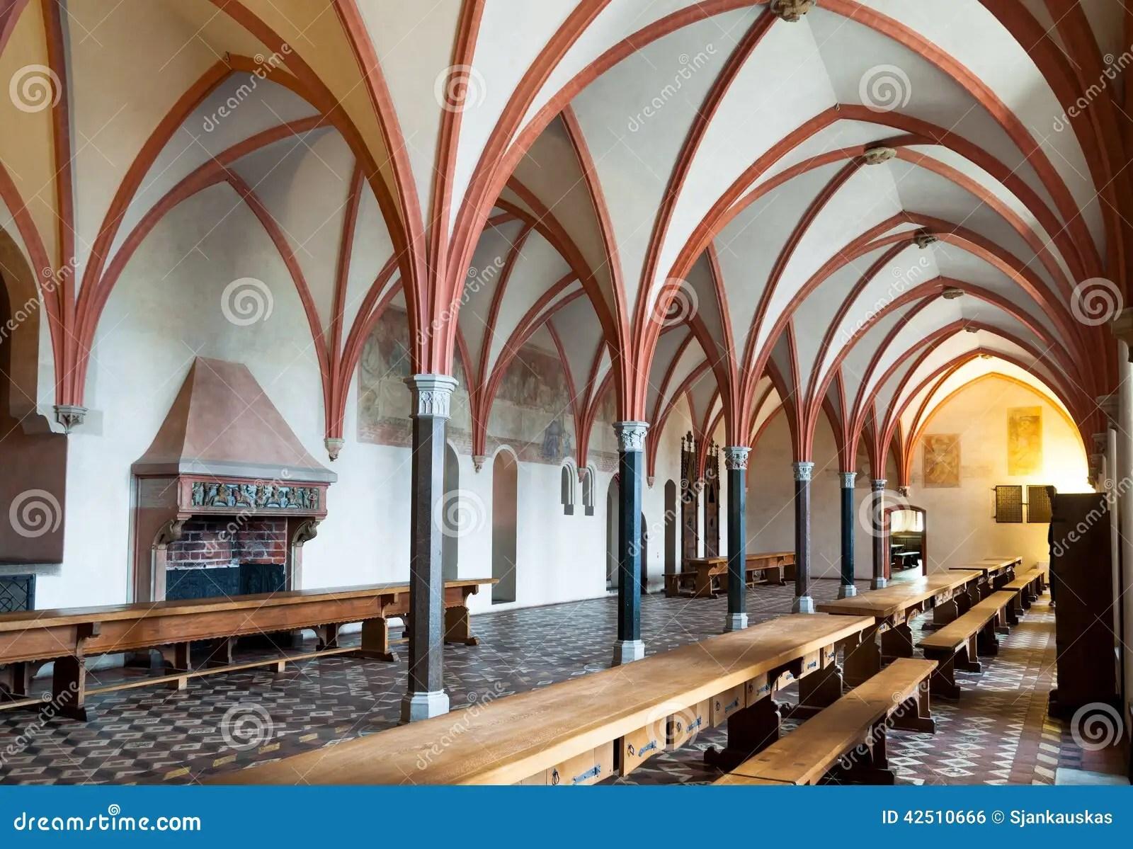 Malbork Castle Dining Hall Interior Stock Photo Image