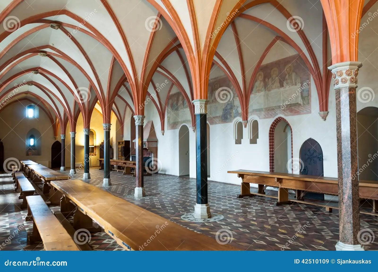 Malbork Castle Dining Hall Stock Image Image Of