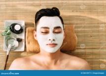 Male Beauty Stock Of Salon Lying Pampering
