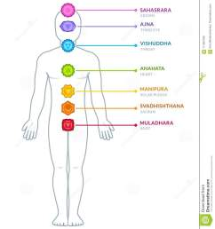 full body male figure with chakras infographics chakra symbols and captions on separate layers isolated vector illustration  [ 1217 x 1300 Pixel ]