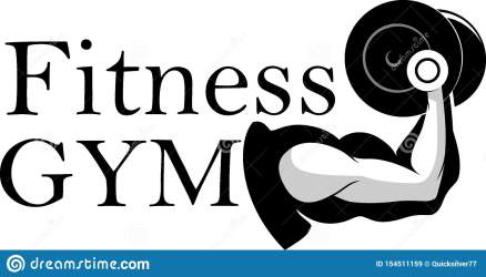 Male And Female Fitness Gym Symbol Stock Vector Illustration of healthy exercise: 154511159