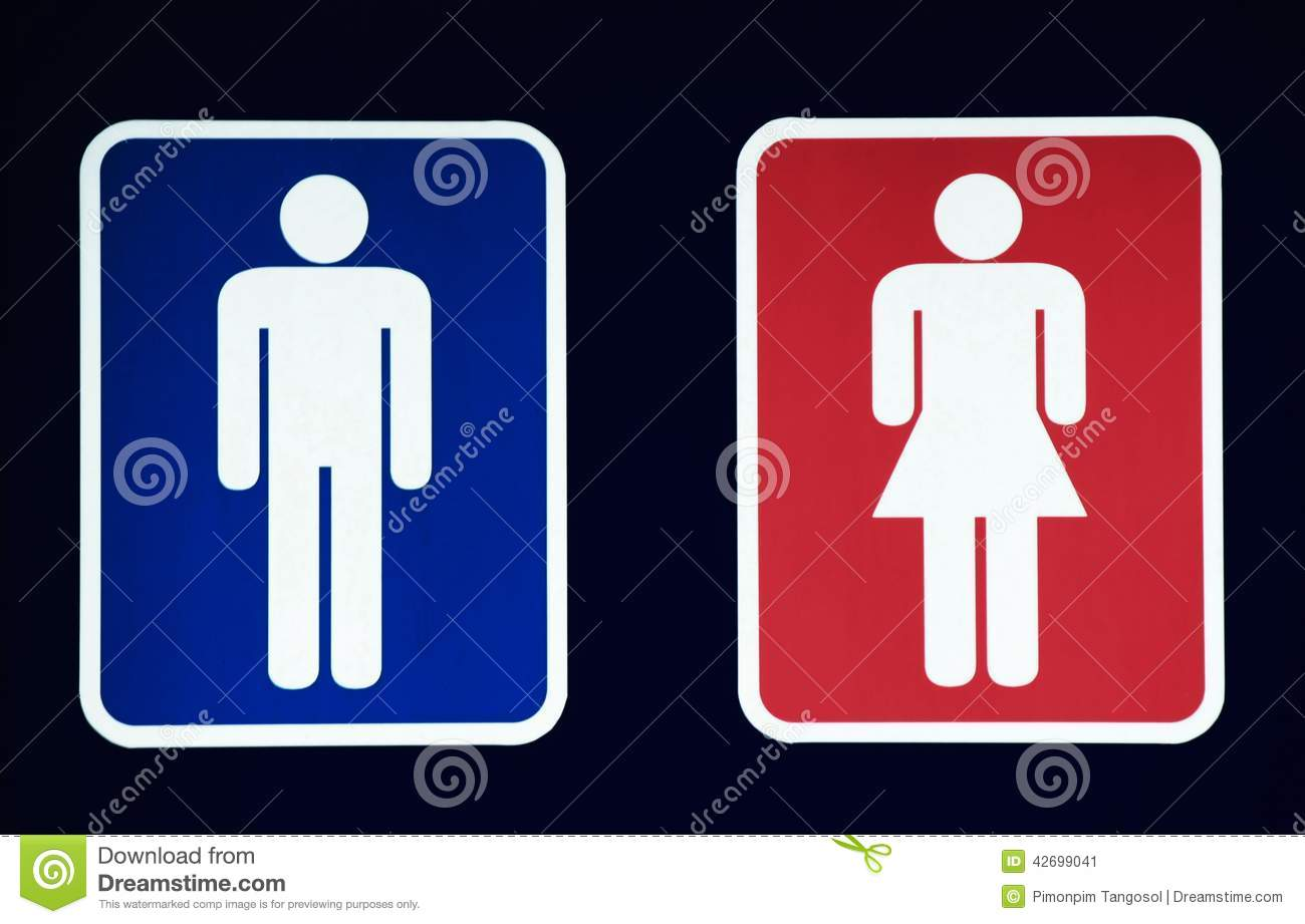Male And Female Restroom Symbol Stock Image  Image of
