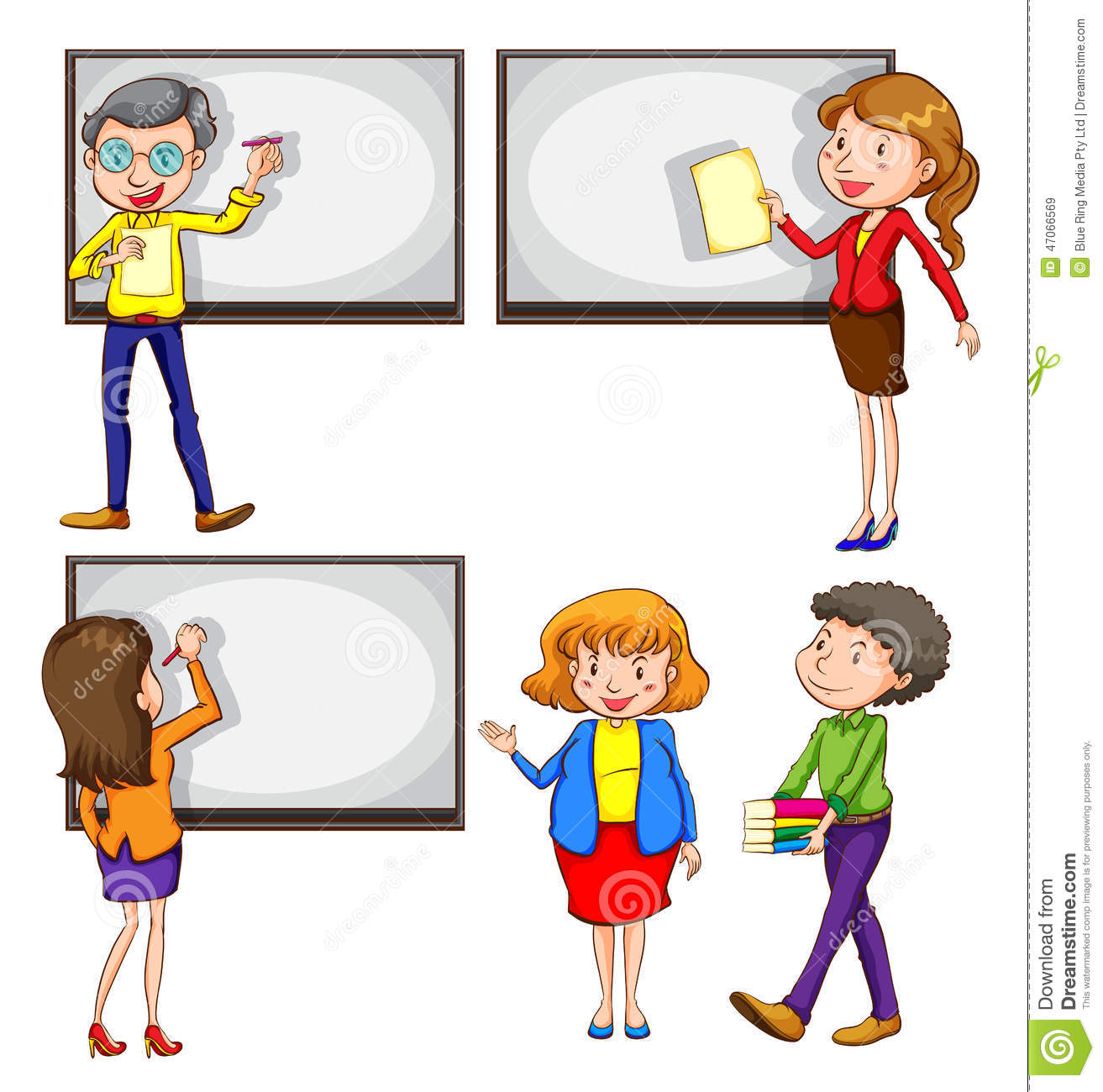 Male And Female Teachers Stock Vector