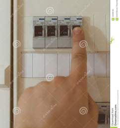 male hand switching on fuse board  [ 1079 x 1300 Pixel ]