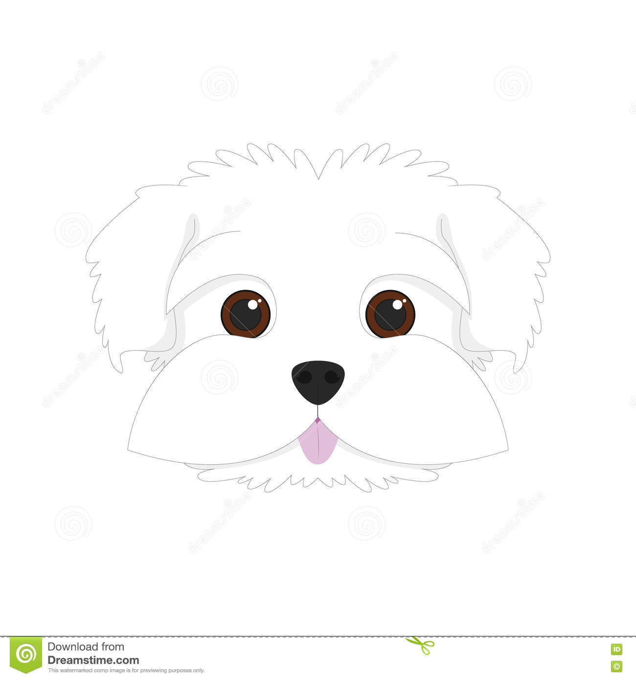 hight resolution of maltese dog vector illustration maltese dog on white background vector illustration royalty free illustration