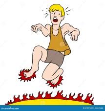 Cartoon Burning Feet