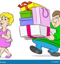 shopping wife stock illustrations 929 shopping wife stock illustrations vectors clipart dreamstime [ 1300 x 1126 Pixel ]