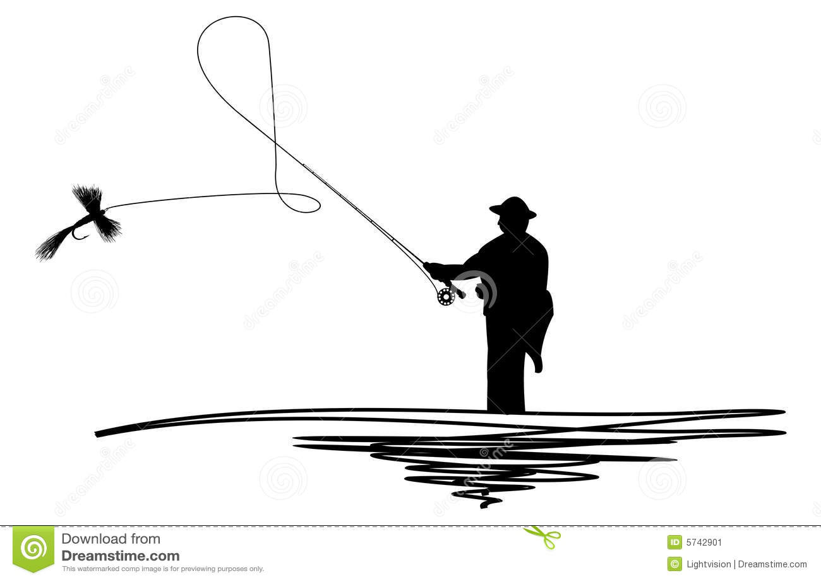 Fishing Pole And Line Tattoo