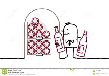 cellar bottles wine cartoon brain royalty drawn characters hand confusion illustration gograph clip illustrations