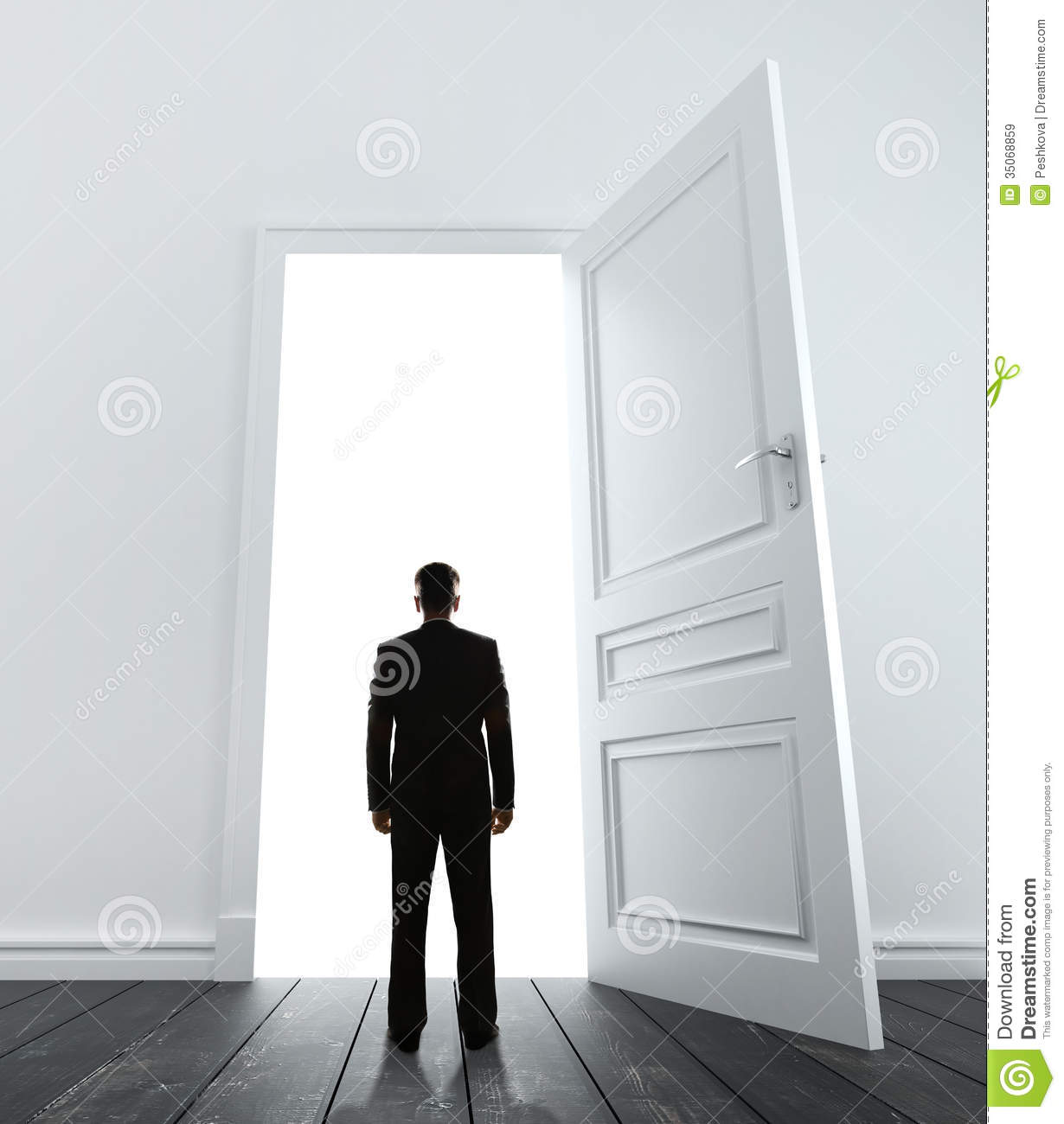 Man And Door Royalty Free Stock Images