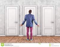 Man before a doors stock photo. Image of doors