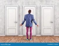 Man before a doors stock photo. Image of doors ...