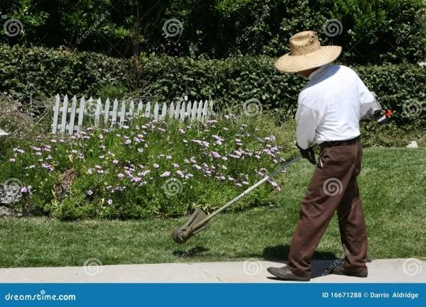 man edging grass landscaping royalty