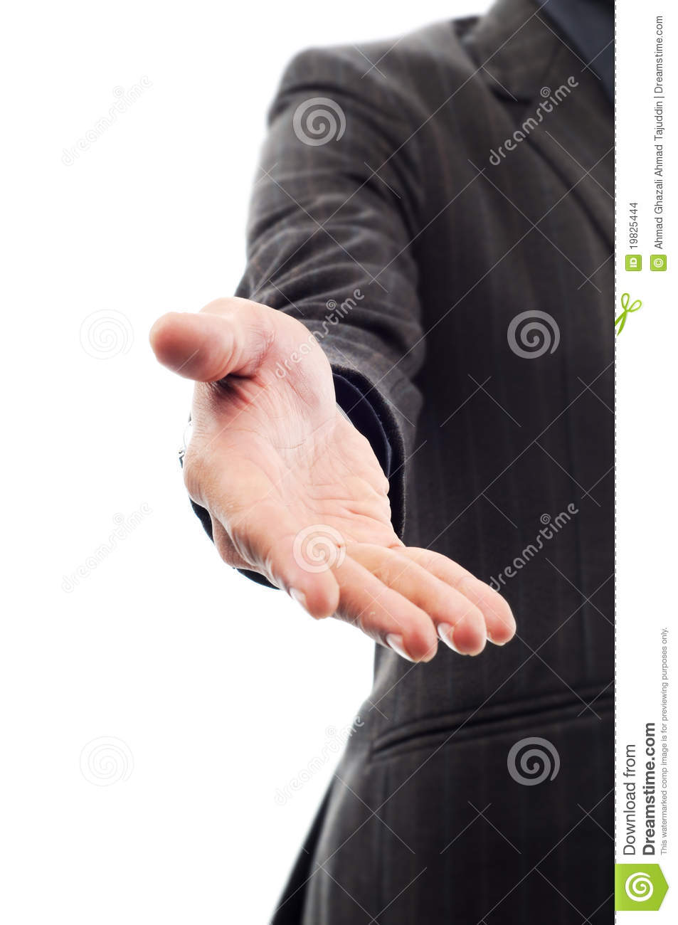 Man Extended Hand To Shake Stock Images  Image 19825444