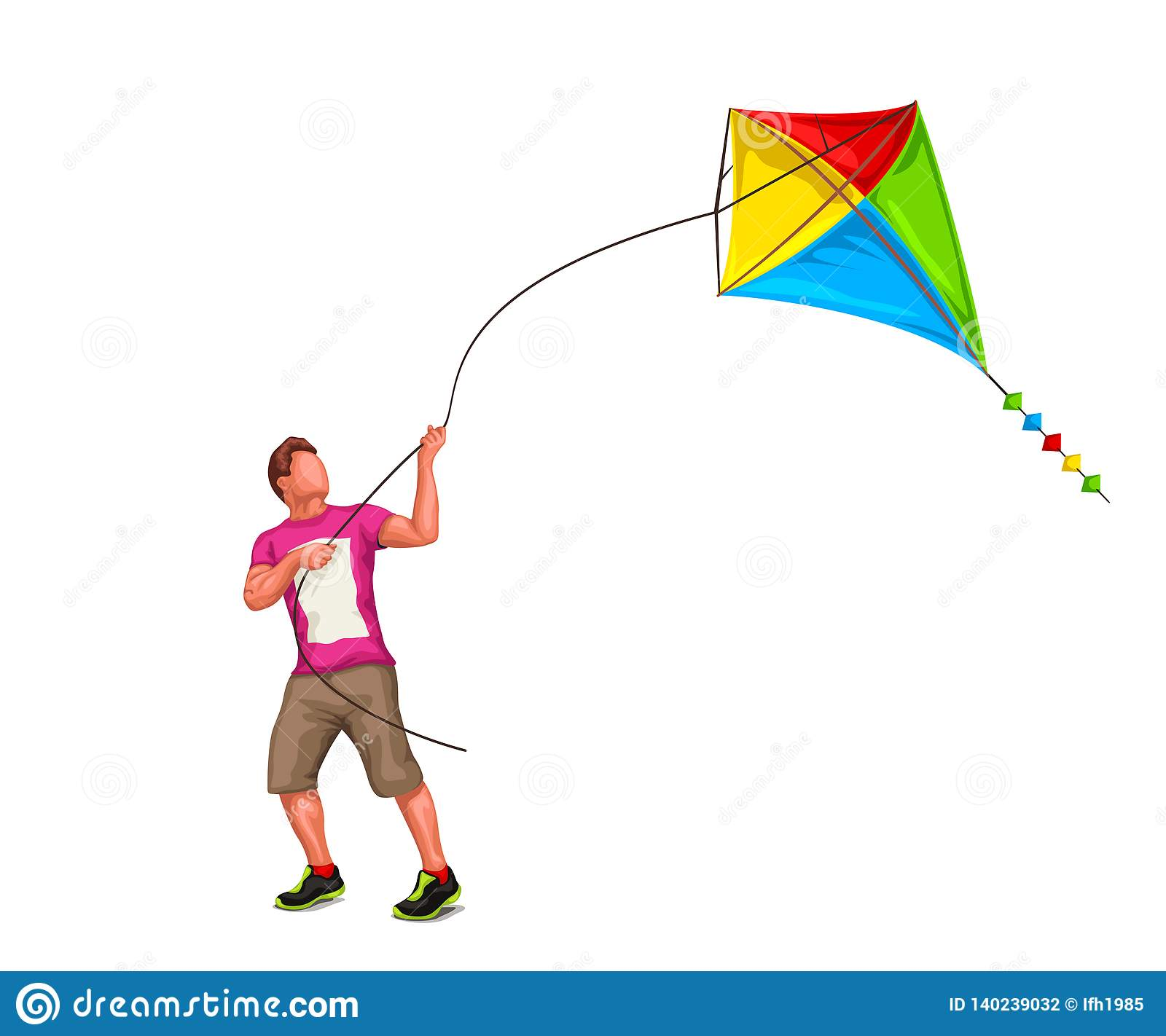 Kite Cartoons Illustrations Amp Vector Stock Images