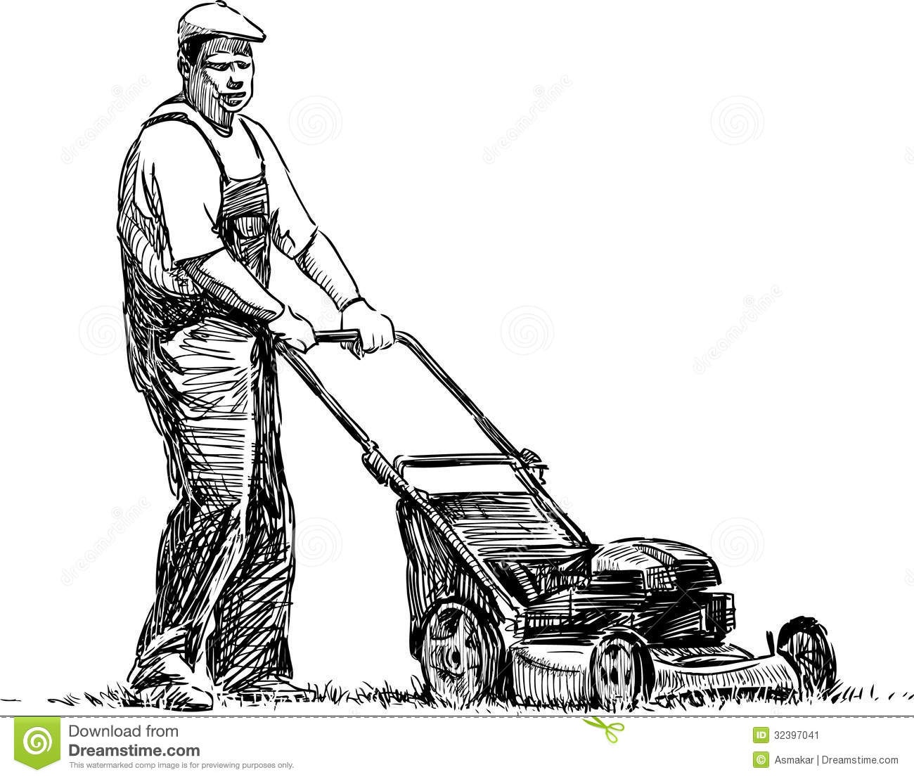 Lawn Coloring Pages