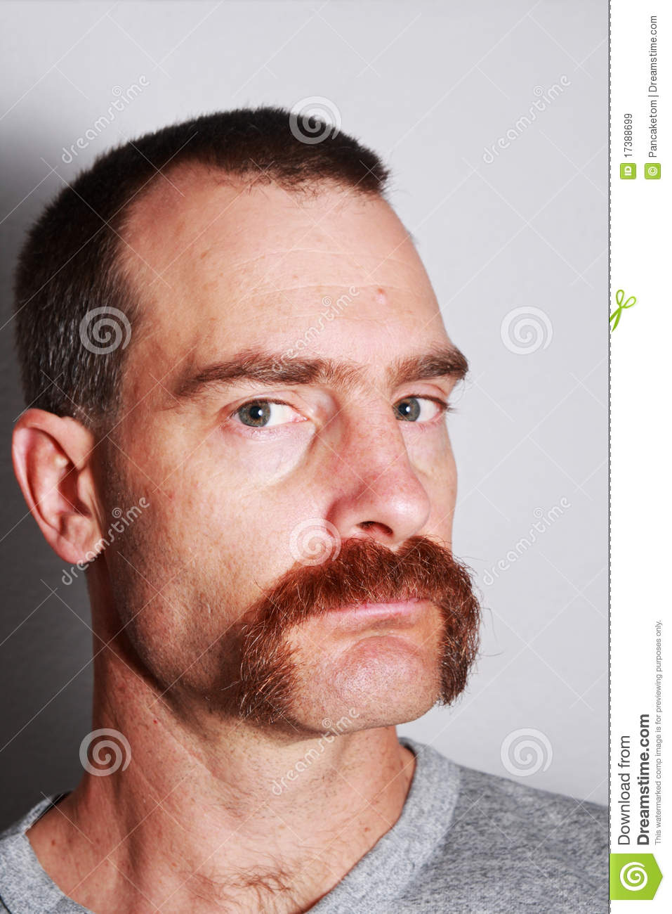 Man With Mustache Portrait Stock Image Image Of Depth