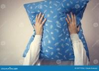 Man Pillow Face Stock Photo - Image: 59777226