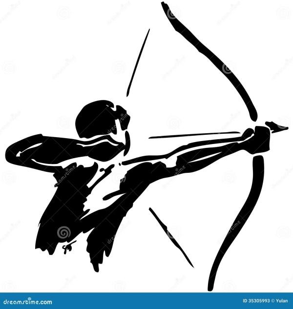 Man Practices Archery Stock Photos Image 35305993