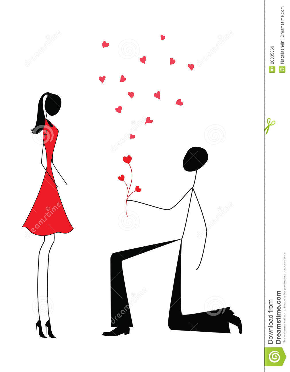 A Man Proposing To A Woman Royalty Free Stock Images