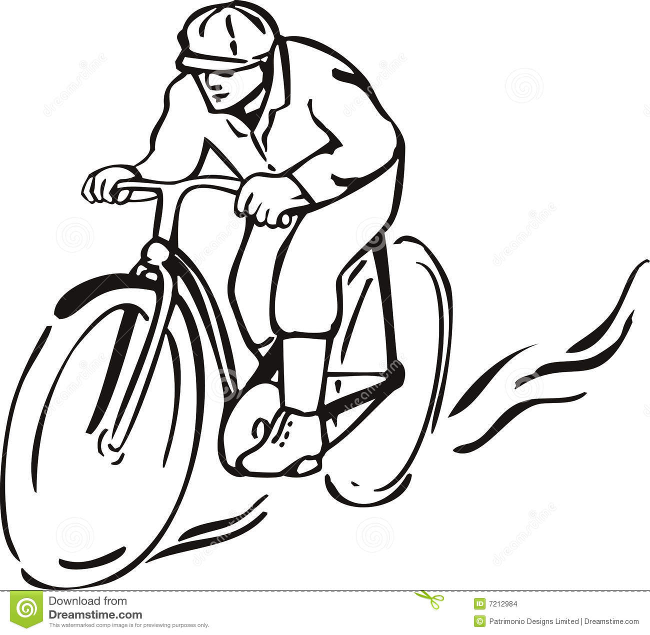 Man Riding A Bicycle Stock Vector Illustration Of White