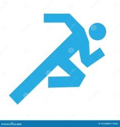 Man Running Icon Vector Running Symbol Concept Of Health Stock Illustration Illustration of human symbol: 121038600