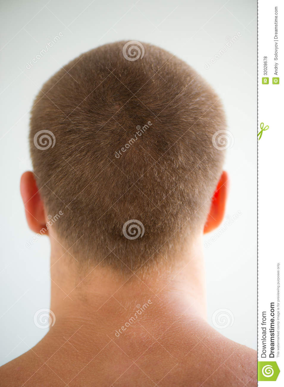 Mans Head And Nape Stock Photo Image Of Criminal Style