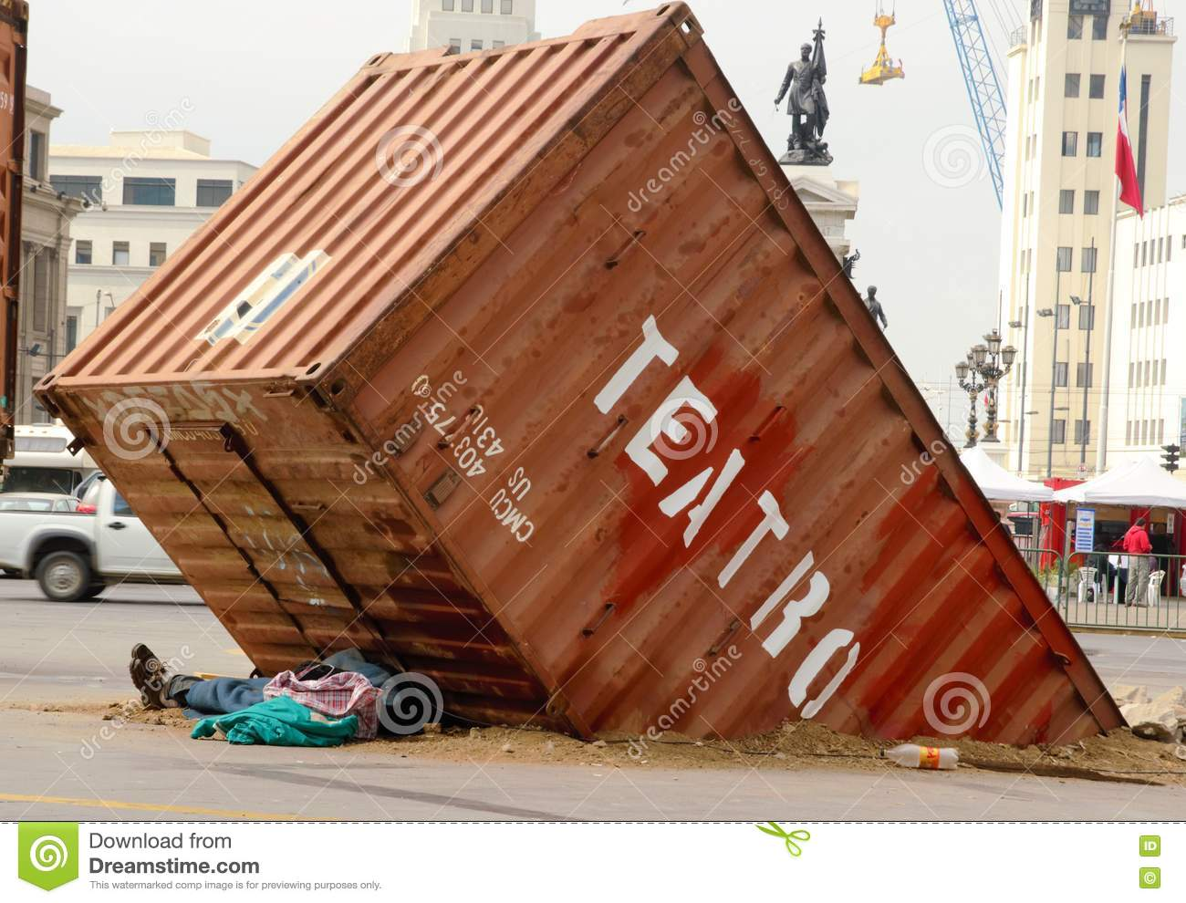 Best Kitchen Gallery: Man Sleeping Under Half Buried Container Stock Image Image Of of Buried Shipping Container on rachelxblog.com