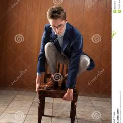 Chair Stands On Velvet Slipper Man Stock Photo Image Of Silly Grip 18840848