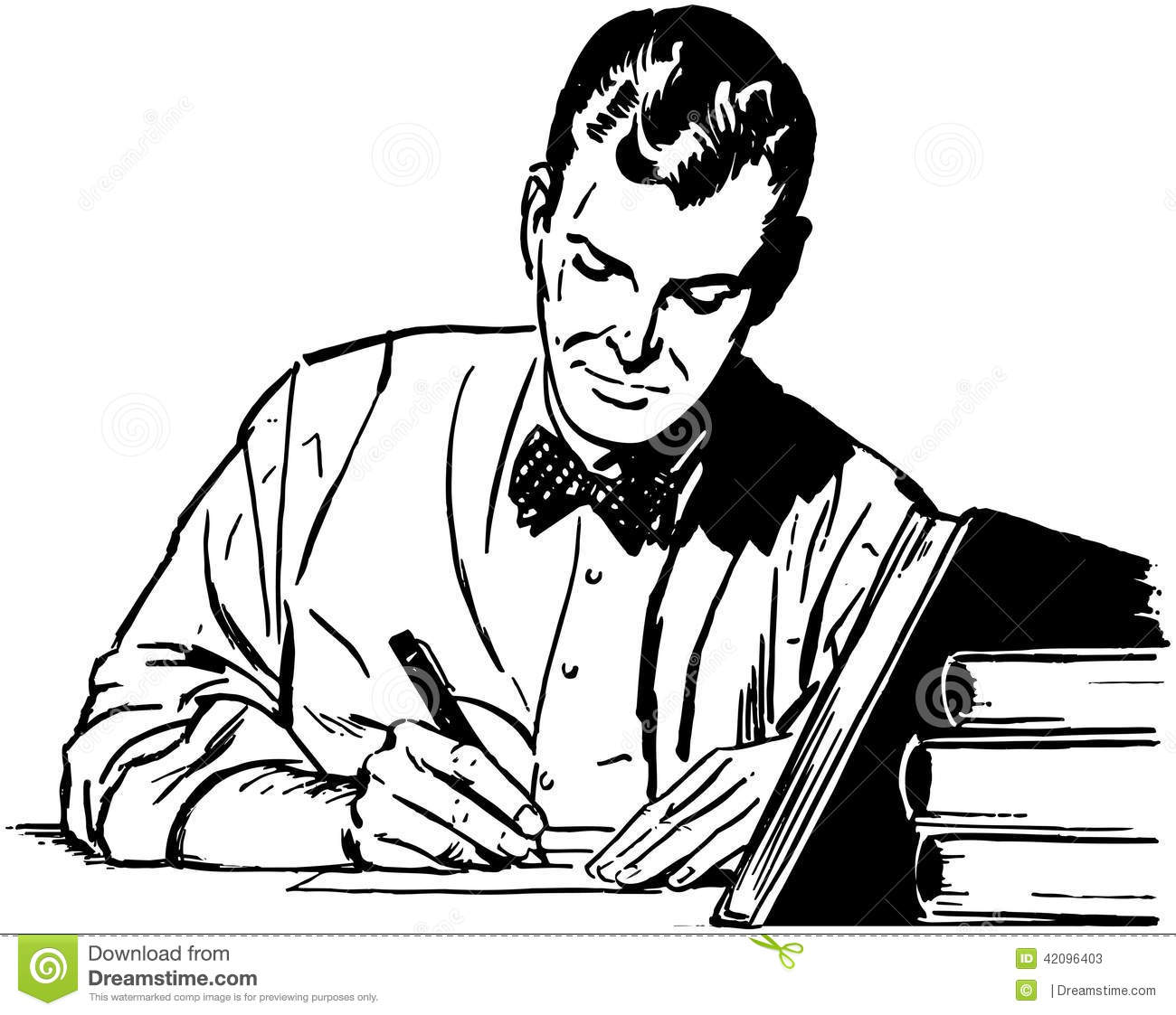 Man Studying Stock Vector Illustration Of Scholars