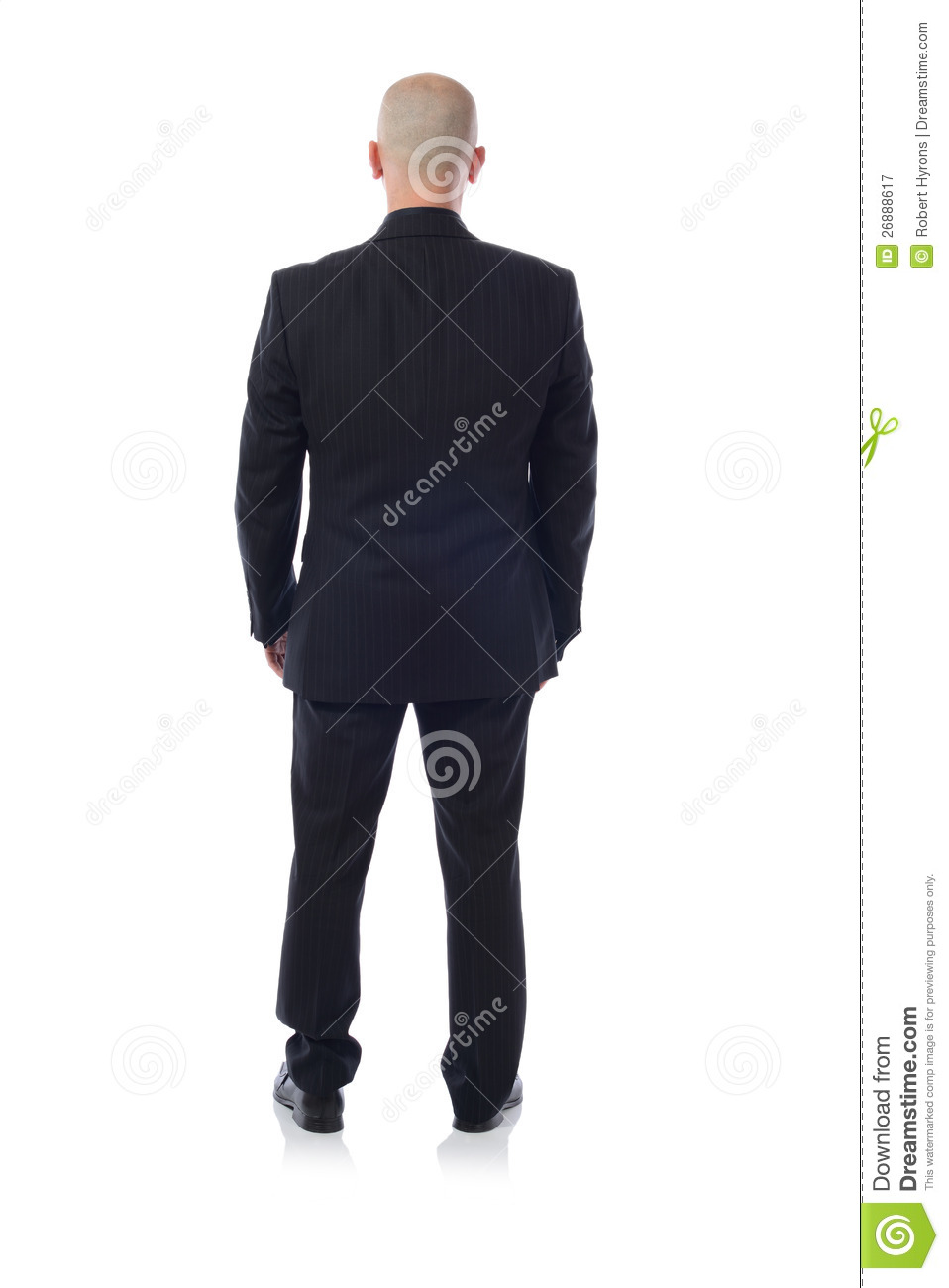 Man In Suit From Behind Royalty Free Stock Photography