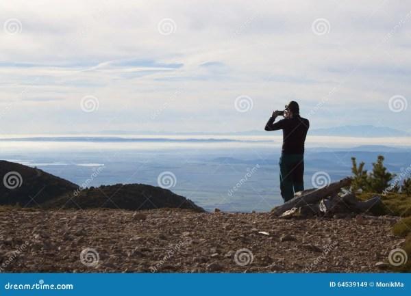 man of foggy landscape