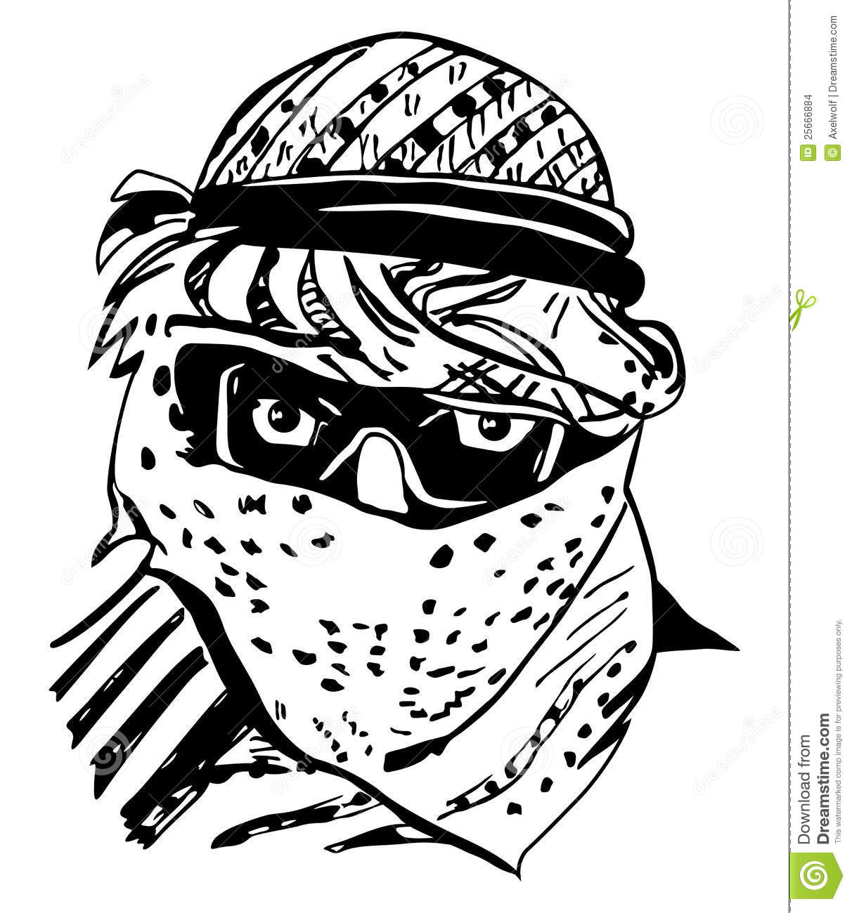 Man In Traditional Arab Headdress, Keffiyeh Stock Images