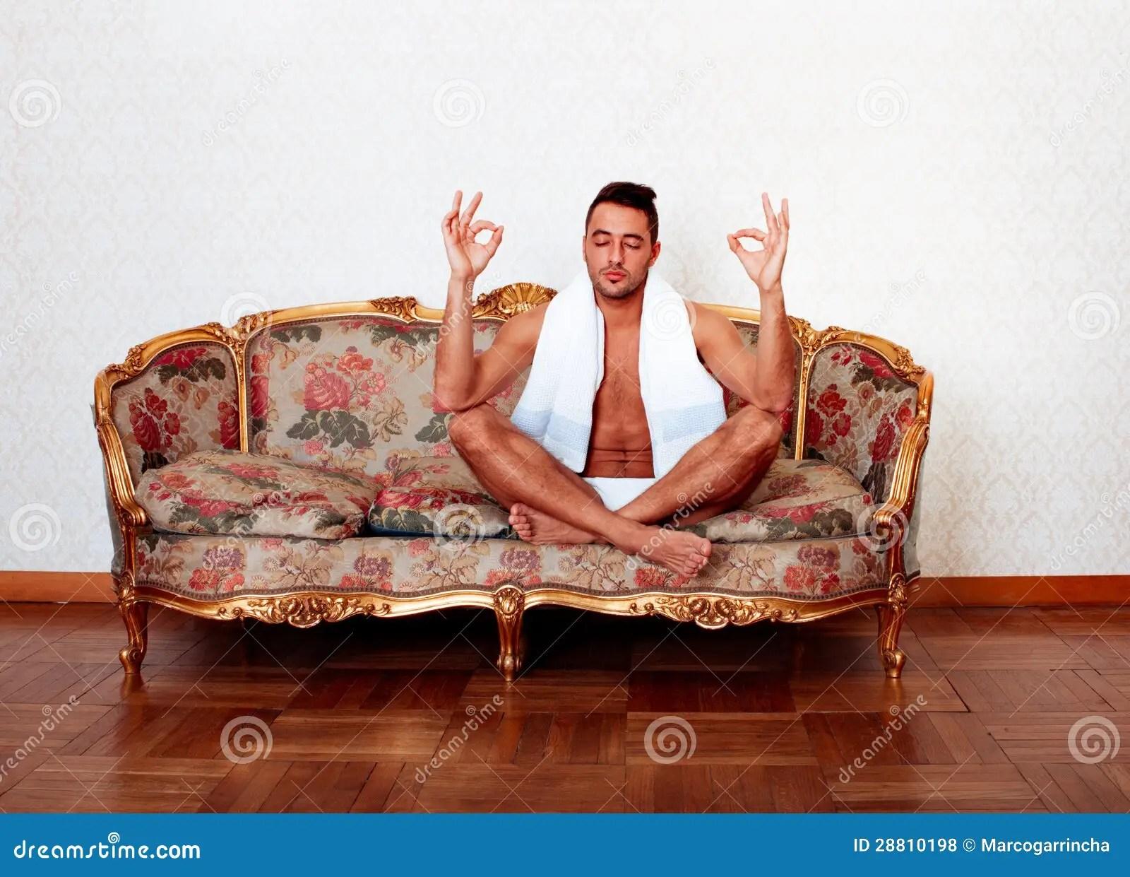yoga sofa throws argos man undressed on stock photo image of room