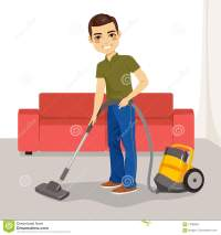 Man Vacuum Cleaner Stock Vector - Image: 71090562
