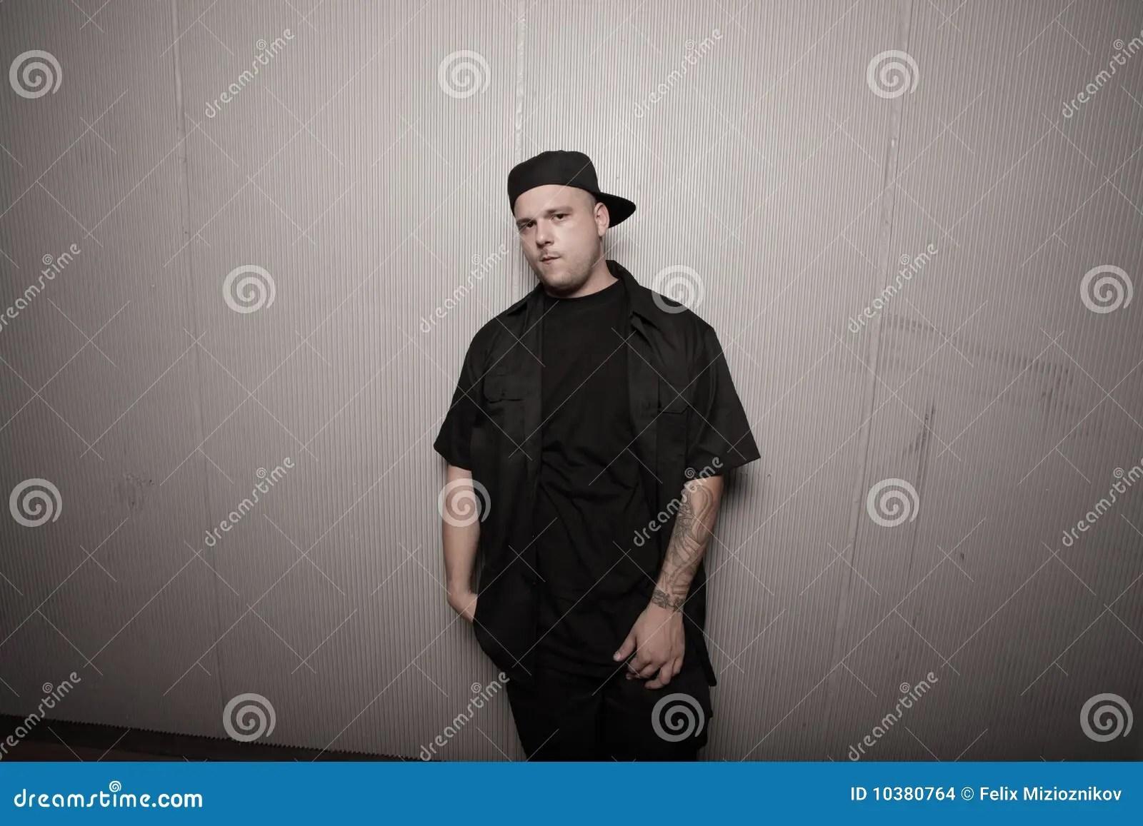 man wearing his hat