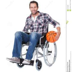 Wheelchair Man Adams Manufacturing Chairs In With Basketball Royalty Free Stock