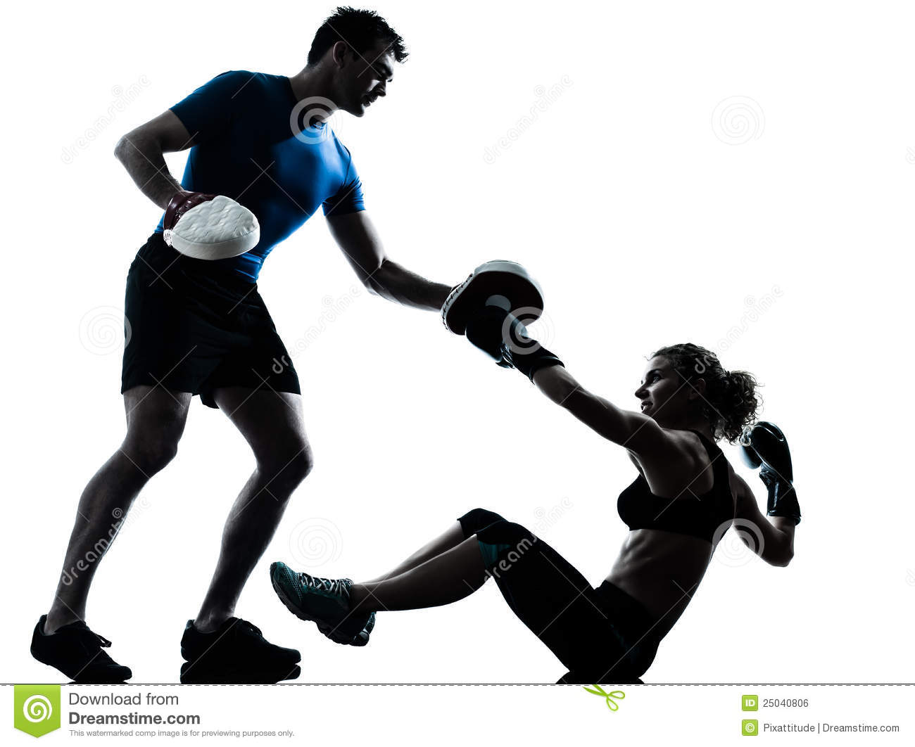 Muay Thai Girl Wallpaper Man Woman Boxing Training Stock Photo Image Of Cutout