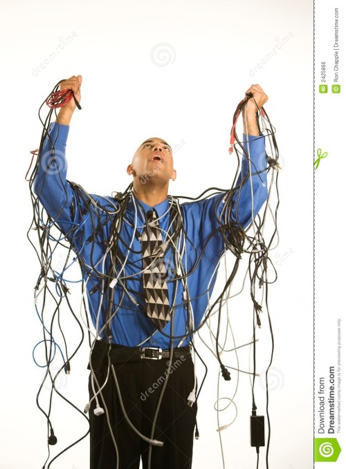 small resolution of man wrapped in cables