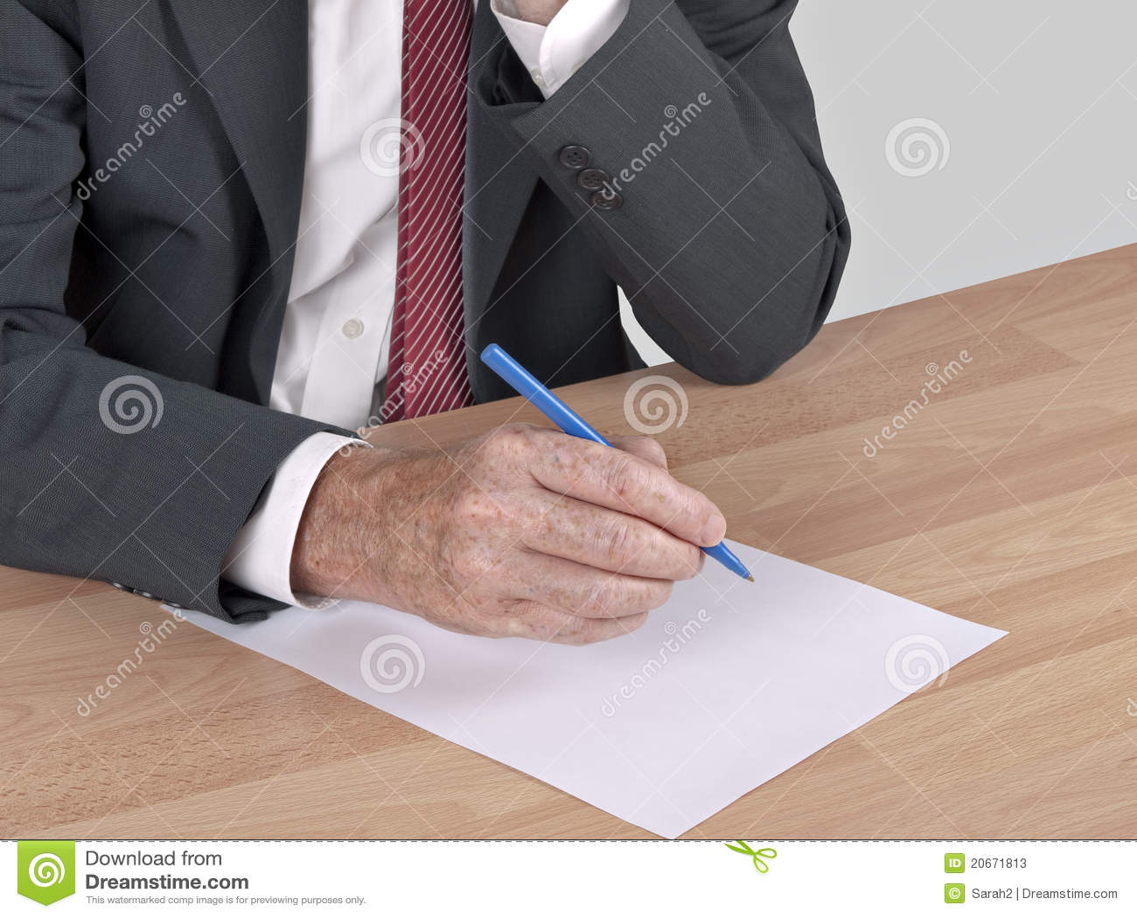 Man Writing At Desk  Resignation Stock Photos  Image 20671813