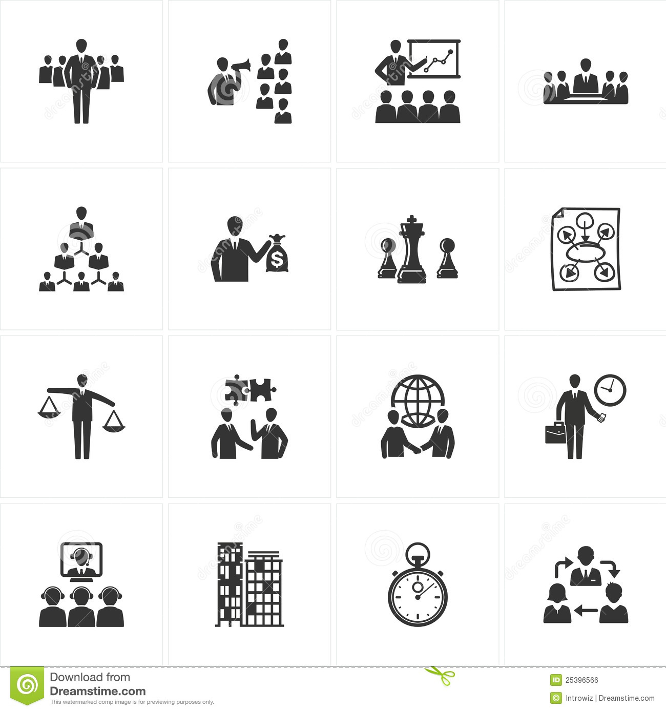 Management And Business Icons Royalty Free Stock Image