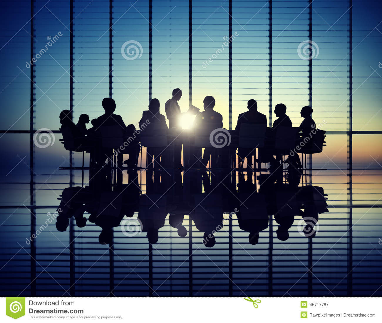 Management Team In A Meeting Stock Photo  Image 45717787