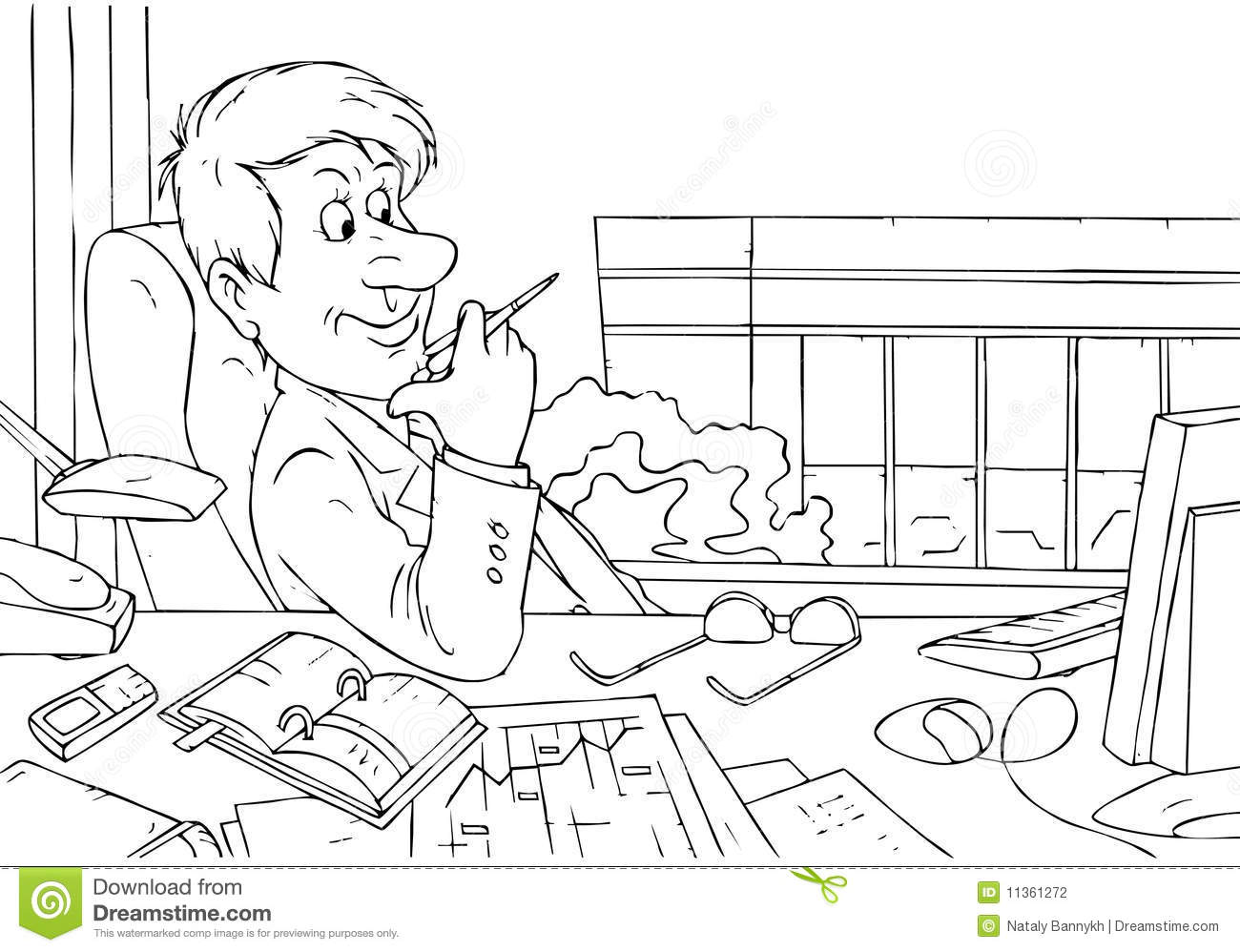 Manager Plans Further Development Stock Vector